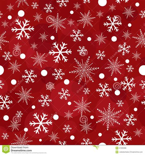 snowflake pattern illustrator red christmas snowflakes seamless pattern stock vector