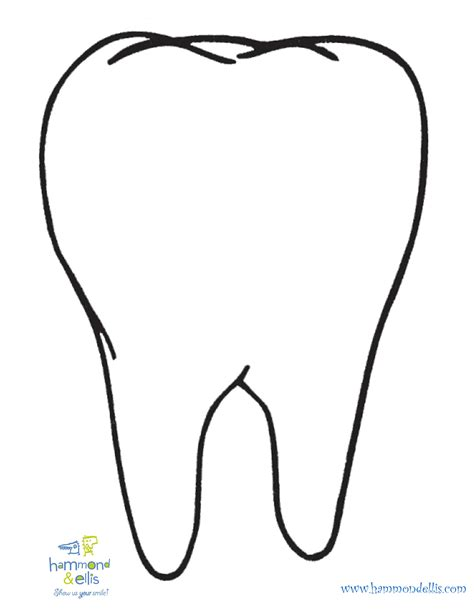 free coloring pages of happy sad tooth