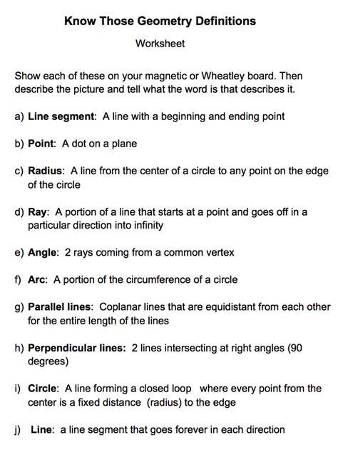 Undefined Terms In Geometry Worksheet by Undefined Terms Worksheet Pdf Todayheadyv