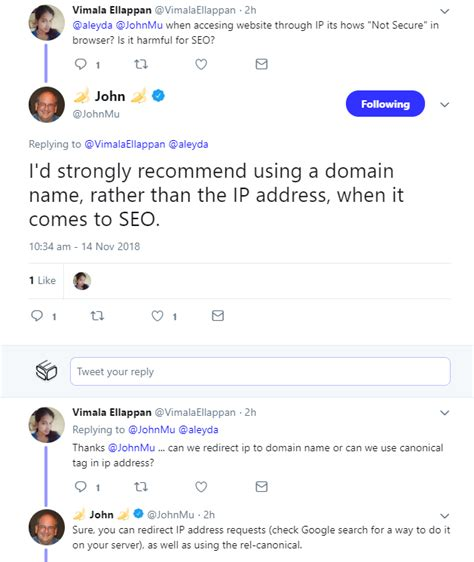 google aus seo sicht sollten domain namen statt ip