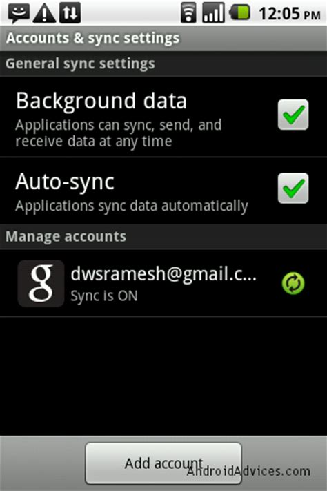 add gmail account to android reset account on android without deleting data android advices