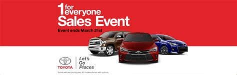 Toyota Sale Event Toyota One For Everyone