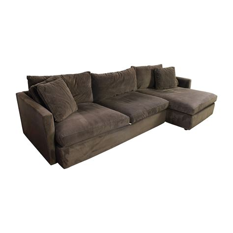 crate and barrel sectional sofa 89 off crate and barrel crate barrel brown left arm
