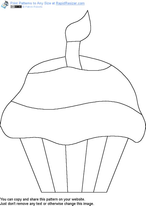 pattern stencil templates free cupcake pattern