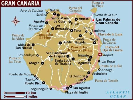 printable map gran canaria map of gran canaria