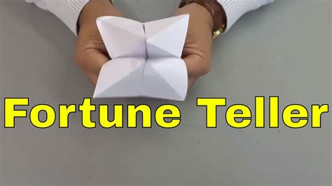 How To Make A Fortune Teller Out Of Paper - how to make a fortune teller out of paper