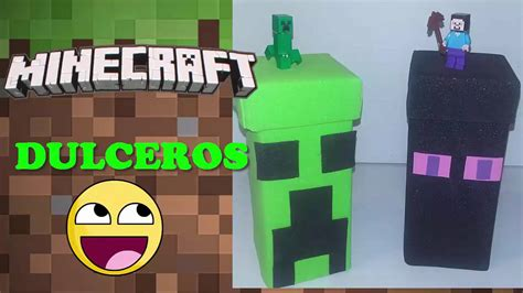 dulceros de minecraft dulceros de mine craft diy ideas para fiesta youtube