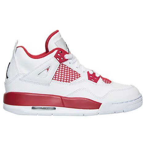 finish line shoes jordans boys grade school air retro 4 basketball shoes