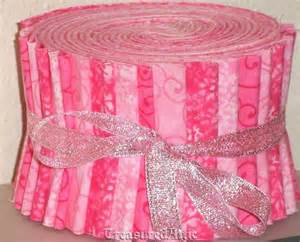 jelly roll quilting fabric strips pink by treasuredatticfabric