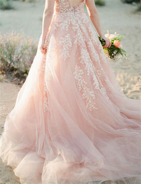 hochzeitskleid blush a dreamy pink wedding dress captured in joshua tree in