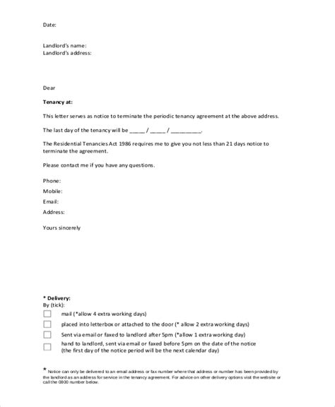 Lease Breaking Letter Landlord Sle Lease Termination Letter 7 Exles In Word Pdf