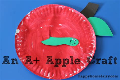 Apple Paper Craft - an a apple craft happy home