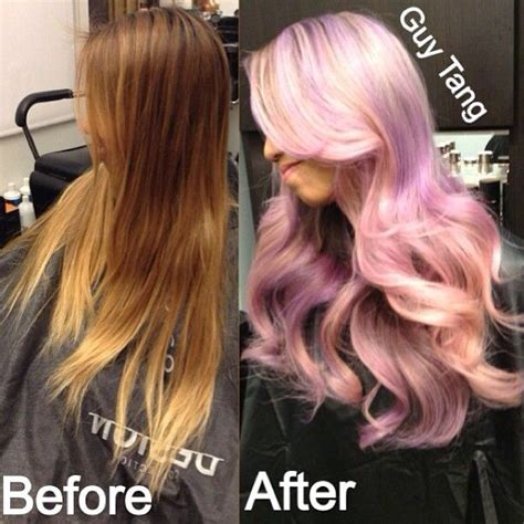 guy tang hair before and after pastel ombre by guy tang pastelombre ombrehair ombre