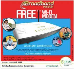 deals in pakistan » ptcl free wi fi modem