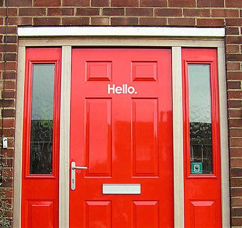 Hello Door Decal by Door Decals Give To Your Home Design