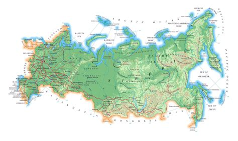 russia and europe physical map map of europe and russia physical geography