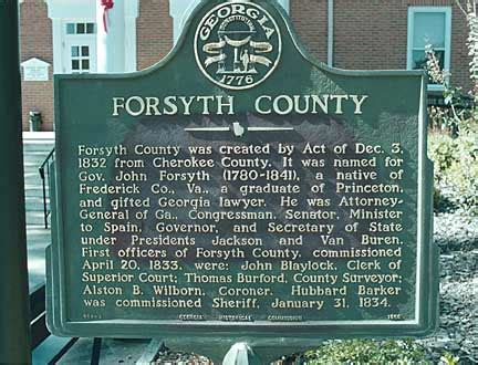 Forsyth County Magistrate Court Search Historical Markers By County Georgiainfo