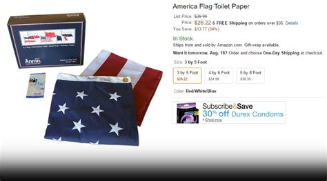 amazon  fire  american flag toilet paper  factoid news