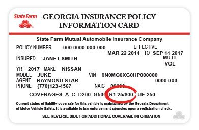 state farm insurance card template printed rental car services reimbursement state farm 174