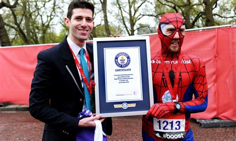 dressed as spider athletics weekly paul martelletti breaks record dressed as spider