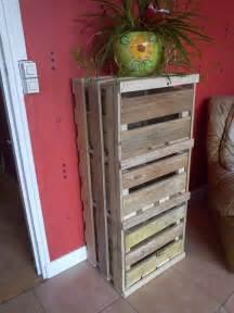 meuble de rangement bois de palettes recycl 233 es meubles