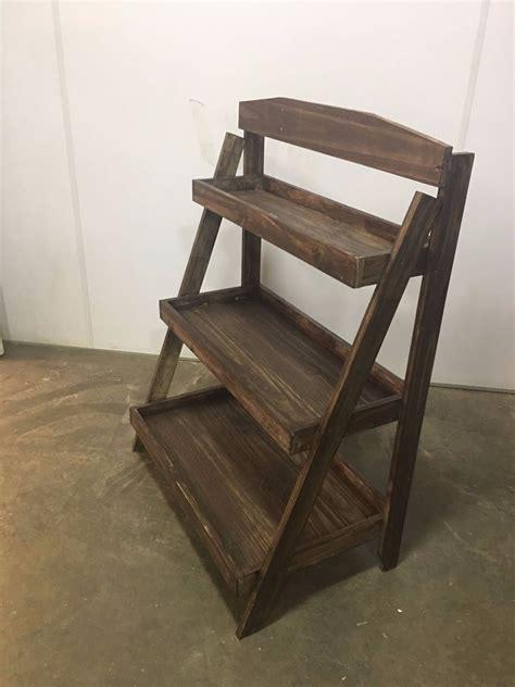 suporte plantas floreira prateleira estante escada madeira - Estante Floreira