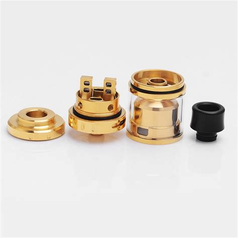 Rta Augvape Merlin Mini 24 Atomizer Authentic authentic augvape merlin mini rta gold 24mm rebuildable tank atomizer