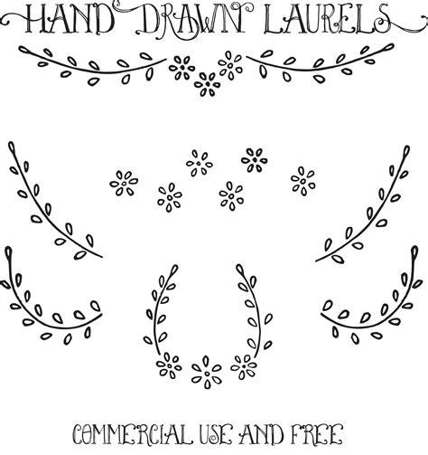hand drawn vector tutorial royalty free images hand drawn laurels clip art
