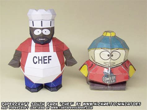 South Park Papercraft - papercraft south park chef cartman by
