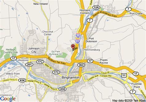 binghamton map map of 8 motel binghamton front binghamton