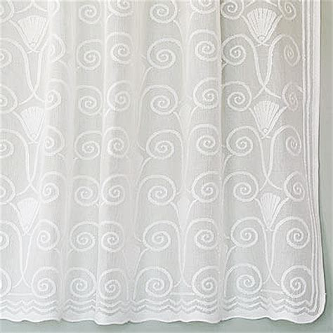 Sheer Curtains White Art Deco Cotton Lace Curtains Vintage Victorian