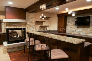 basement kitchens ideas bar