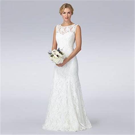 Ivory lace wedding dress   Debenhams.com