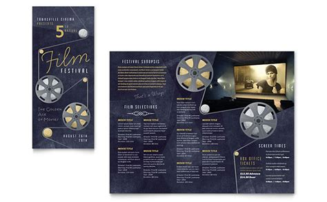 film festival brochure template design
