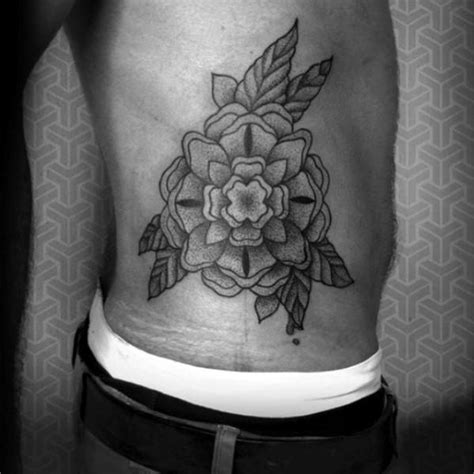 rose tattoo on rib cage 40 geometric designs for flower ink ideas