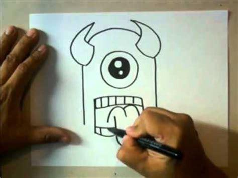 imagenes de monstruos faciles para dibujar como dibujar un monstruo facil youtube