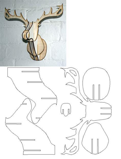 reindeer template to sew rendier 3d patroon printables pinterest reindeer
