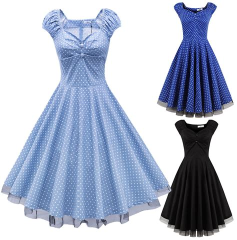 swing party dresses vintage 50s 60s retro rockabilly swing pinup housewife