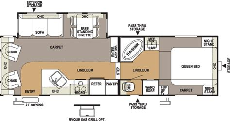 flagstaff fifth wheel floor plans 2005 forest river flagstaff fifth wheel rvweb com