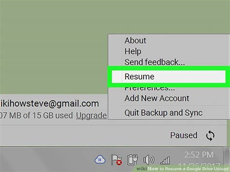 how to resume a drive upload 5 steps with pictures