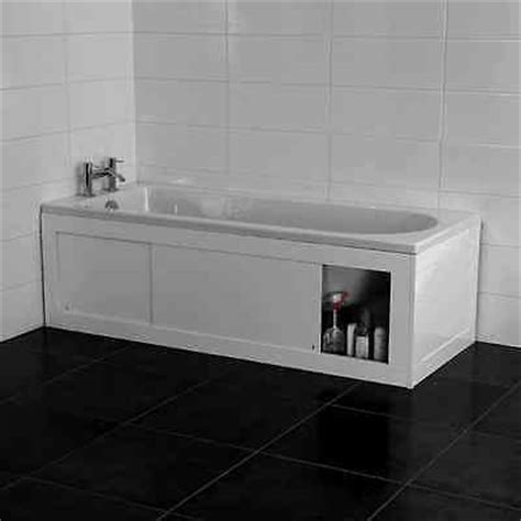 P Shaped Shower Baths croydex unfold n fit white bath panel with lockable storage