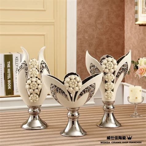 home made decoration pieces porcelain modern white vessels home decoration ceramic