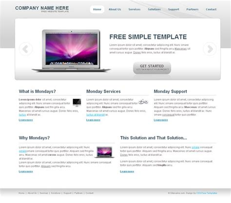 Free Simple Template Free Css Templates Free Easy Website Templates