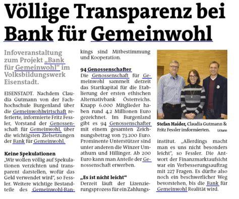 gemeinwohl bank pressespiegel jetzt teil der genossenschaft f 252 r