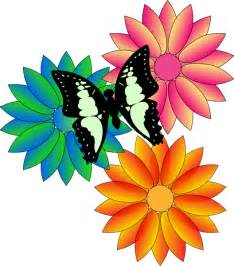 Butterfly And Flower Clipart butterfly and flowers clip at clker vector clip
