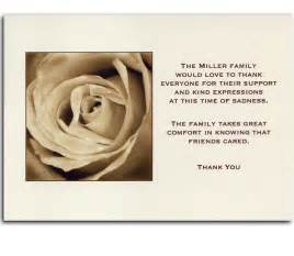 bereavement thank you card free cards pictures