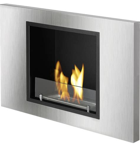 lima recessed ventless ethanol fireplace modern indoor