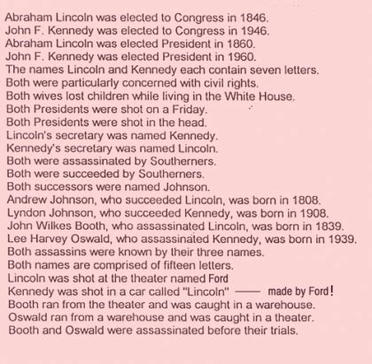 lincoln kennedy coincidences 301 moved permanently