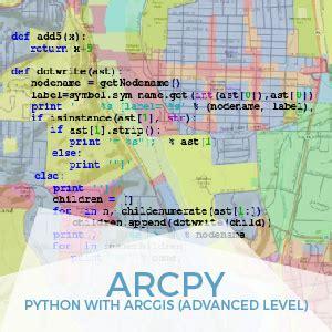 arcgis advanced tutorial arcpy python en arcgis advanced level gis course tyc