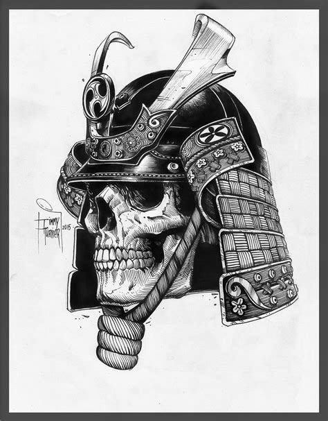 samurai helmet tattoo graphica on behance skulls tattoos
